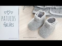 Knit Baby Shoes, Baby Booties Knitting Pattern, Baby Knitting Patterns, Knitting Socks, Baby Patterns, Granny Gifts, Diy Bebe, Bebe Baby, Knitting For Kids