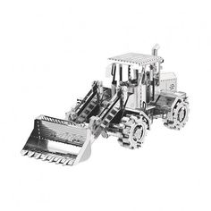 Typically, bulldozers are large and powerful tracked heavy equipment. Now you can have your own Bulldozer Metal Model Kit.