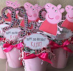 Centro de mesa de Peppa Pig por NiftyKreations1 en Etsy