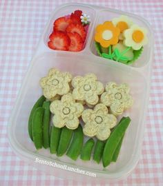 Spring Themed Lunch - School Lunch Ideas #bentoschoollunches