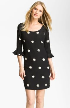pol ka dot dress noun one of a number of large round dots repeated to form a regular pattern on a dress. DERIVATIVES pol ka-dot ted  adject...
