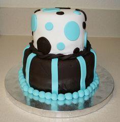 Dotted Chocolate Blueberry Fondant Cake
