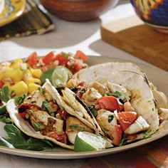 Chicken Tacos with Charred Tomatoes - EatingWell.com