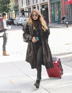 Hadid style:When not on the runway, this look resembles most of Hadid's streetwear style