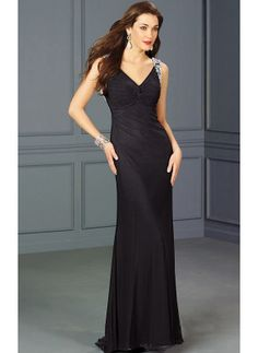0f3bf9aa4f5 One Shoulder Sheath Floor-length Chiffon Prom Dress Black With Sleeveless  Glam Dresses
