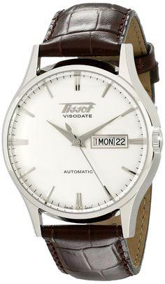 Men watches : Tissot Men's TIST0194301603101 Heritage Visodate Analog Display Swiss Automatic Brown Watch