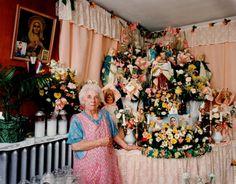 Dana Salvo. Margaret with St. Joseph Shrine, Gloucester - 16  16 x 20; 30 x 40 C-Type Color Photograph