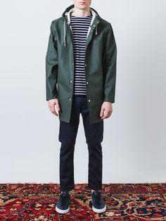 Stockholm Hunter Green Raincoat