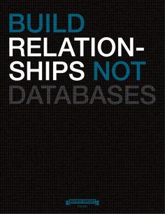 """Build relationships, not databases."" - Pardot's own Mathew Sweezey"