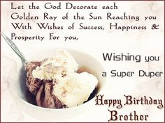 Birthday Wishes For Brother - Birthday Images, Pictures Happy Birthday Brother Wishes, Birthday Message For Brother, Happy Birthday Wishes Messages, Brother Birthday Quotes, Birthday Wishes Funny, Happy Birthday Fun, Happy Birthday Quotes, Humor Birthday, Birthday Cards