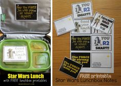 FREE Printables. Star Wars lunch box notes.