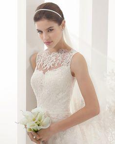 8B150 PAUSA | Wedding Dresses | 2015 Collection | Alma Novia (close up)