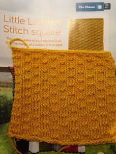 Issue 22 - Little ladders stitch square
