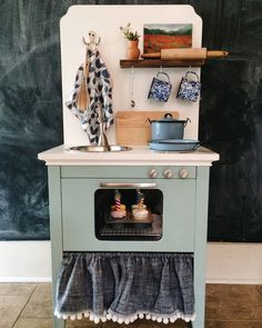 From an old nightstand to an adorable play kitchen! Nightstand Play Kitchen Related posts: DIY play kitchen made from an old nightstand DIY Play Kitchen Wonderful DIY Play Kitchen from TV cabinets 15 Insanely Good Ikea Play Kitchen Hacks (The Everymom) Diy Kids Kitchen, Diy Kitchen Projects, Toy Kitchen, Kitchen Chairs, Ikea Kitchen, Kitchen Decor, Diy Interior, Repurposed Furniture, Kids Furniture
