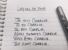 Today's French Lesson #jesuischarlie #CharlieHebdo