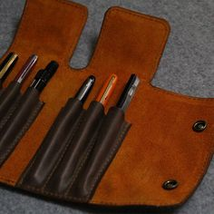 Handmade Leather Pen case-pen bag for por FocusmanLeather en Etsy