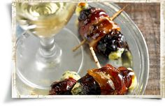 Bacon-Wrapped Dates Stuffed with Kerrygold Cashel Blue Cheese #kerrygold