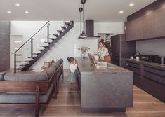 In Plan, Kitchen Images, Home Kitchens, Dining Bench, New Homes, Stairs, House Design, Living Room, Luxury