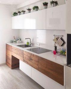 100 idee di cucine moderne con elementi in legno | Kitchenette ...
