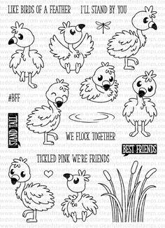 Fluffy Flamingos