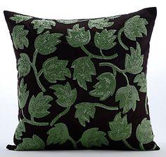 Handmade Dark Brown Throw Pillows Cover, Green Sequins Le... https://www.amazon.com/dp/B01645ZF04/ref=cm_sw_r_pi_dp_x_HxHcyb7GK5T75