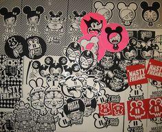 Graffiti Wall Art, Street Art Graffiti, Promotional Stickers, Outdoor Stickers, Skate Art, Sticker Bomb, Tag Art, Sticker Design, Urban Art