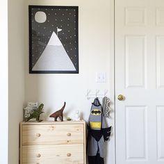 Boys room   IKEA rast dresser MiniWilla Berg poster Target hook and robot bank   Www.chickypopshop.com for poster