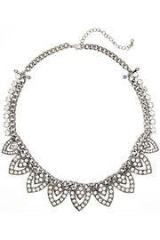 Kenneth Jay LaneRhodium-plated crystal necklace