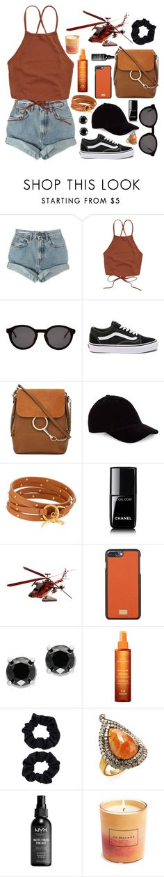 """""""{day 3 ~ helicopter ride}"""" by liv-on-polyvore ❤ liked on Polyvore featuring Levi's, Thierry Lasry, Vans, Chloé, Le Amonie, Tory Burch, Chanel, Dolce&Gabbana, Effy Jewelry and Institut Esthederm"""