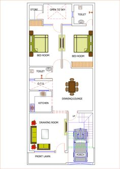 Town House Plans, 2bhk House Plan, House Plans Mansion, Model House Plan, Duplex House Plans, House Layout Plans, Family House Plans, Dream House Plans, Small House Plans