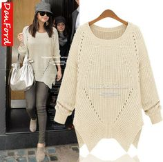 2013 Autumn New Brand Women's Red Sweater Pullover Sweater Casual Fashion Plus Size Sweater L-5XL Sweater for Women DFWB-027 $33.99