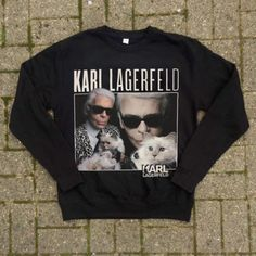 KARL LAGERFELD CREWNECK  #karl #lagerfeld #karllagarfeld #blacktee #crewneck #retro #90s #homagetees #vintage #kwaleo