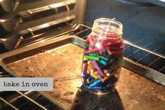 DIY crayon candle 5