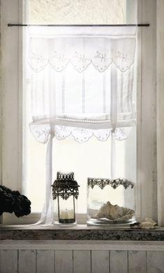 Romantische Gardinen Im Landhaus Stil Lannion 2er Set Amazonde