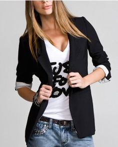 Some cute, word T-shirts like this to wear under blazers or alone w/jeans