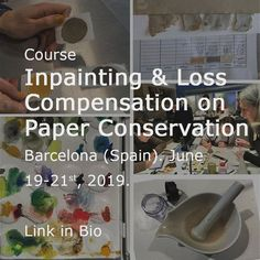 Workshop Inpainting & Loss Compensation on Paper How To Play Spades, The Twits, Paper Book, Excercise, Conservation, Twitter Sign Up, Barcelona, Workshop, June 19