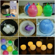 DIY Wax Luminaries