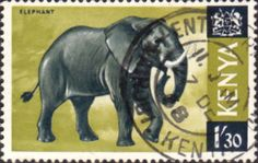 Postage Stamps Kenya 1966 Republic Animals African Elephant SG 30 Fine Used Scott 30 For Sale Take a look