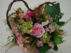 Hochzeitsstrauß gebundenes Herz 40cm Blumenstrauß Rosen Strauß Hochzeit Sträuße