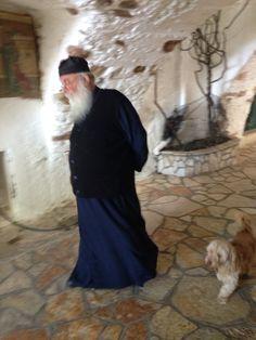Bij het klooster op Corfu