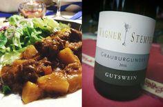 Grauburgunder und Gulasch #Wein #Burgunder #Rheinhessen #Wagner-Stempel #Gulasch