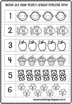 FREE Preschool or Kindergarten Math Worksheets, Apple Themed Classroom Preschool Number Worksheets, Nursery Worksheets, Numbers Preschool, Kindergarten Math Worksheets, Math Literacy, Math Numbers, Preschool Printables, Preschool Learning, In Kindergarten