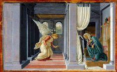 Anunciación.-Pinturas de Botticelli