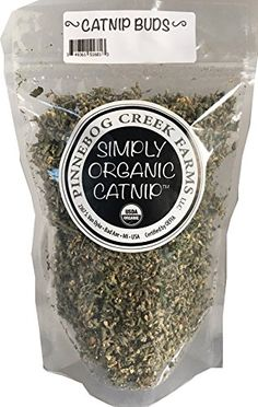 Simply Organic CatnipBuds -- Continue to the product at the image link. (This is an affiliate link)