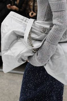 Chanel Silver Tote Bag 2 - Fall 2017
