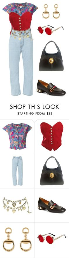 """""""Untitled #1555"""" by lucyshenton ❤ liked on Polyvore featuring Kenzo, Moschino, Acne Studios, Christian Dior and Gucci"""