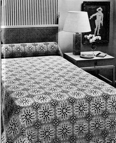 Vintage Crochet Pattern for BedSpread Provincial Charm PDF Pattern Instant Download Diy Crochet Tablecloth, Bedspread, Vintage Crochet, Crochet Patterns, Pdf, Etsy, Furniture, Home Decor, Quilt Cover