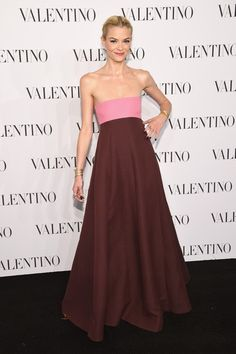 Jaime King Strapless Dress - Jaime King donned a fun yet sophisticated color-block strapless gown by Valentino for the Sala Bianca 945 event.
