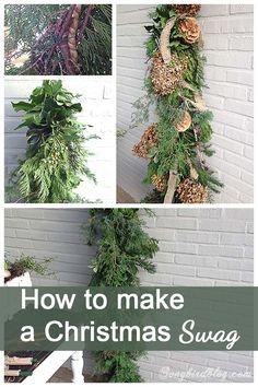 How to make a Christmas swag #12days72ideas @msongbird