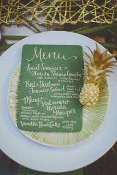 Obst Deko zur Hochzeit – Tischdeko Ideen Ananas